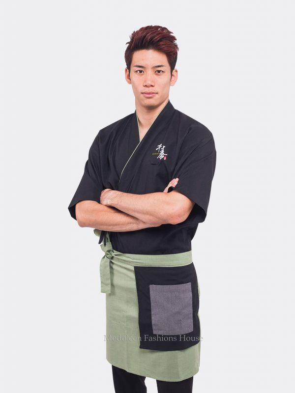 Kitchen Japanese Chef Cook Coat Uniform