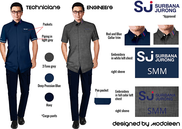 Surbana Jurong uniform moodboard by Modoleen