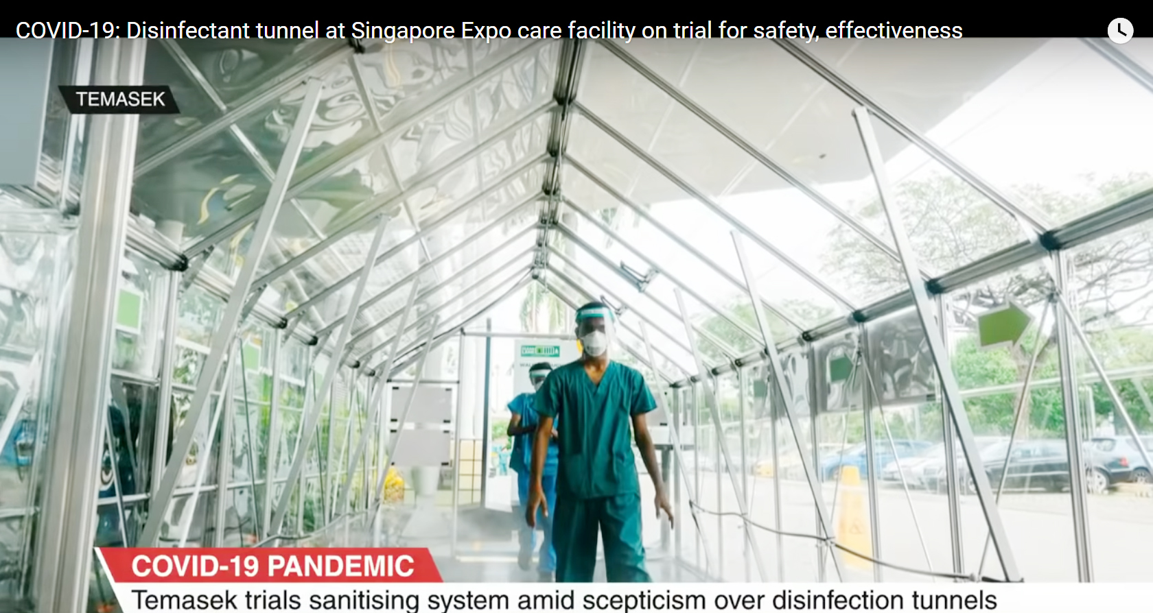 Disinfectant tunnel at Singapore Expo care facility on trial for safety effectiveness copy