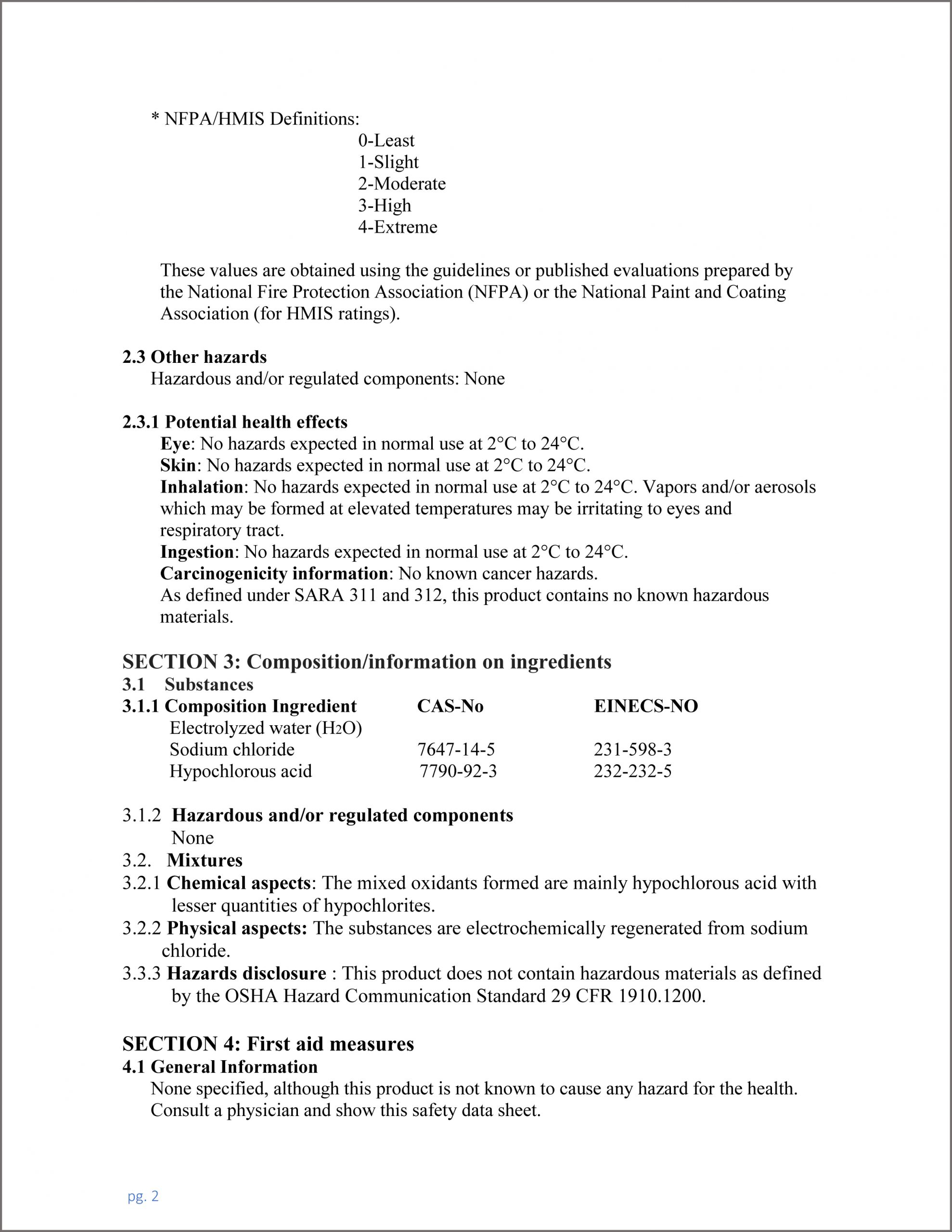 MATERIAL SAFETY DATA SHEET OMBAC