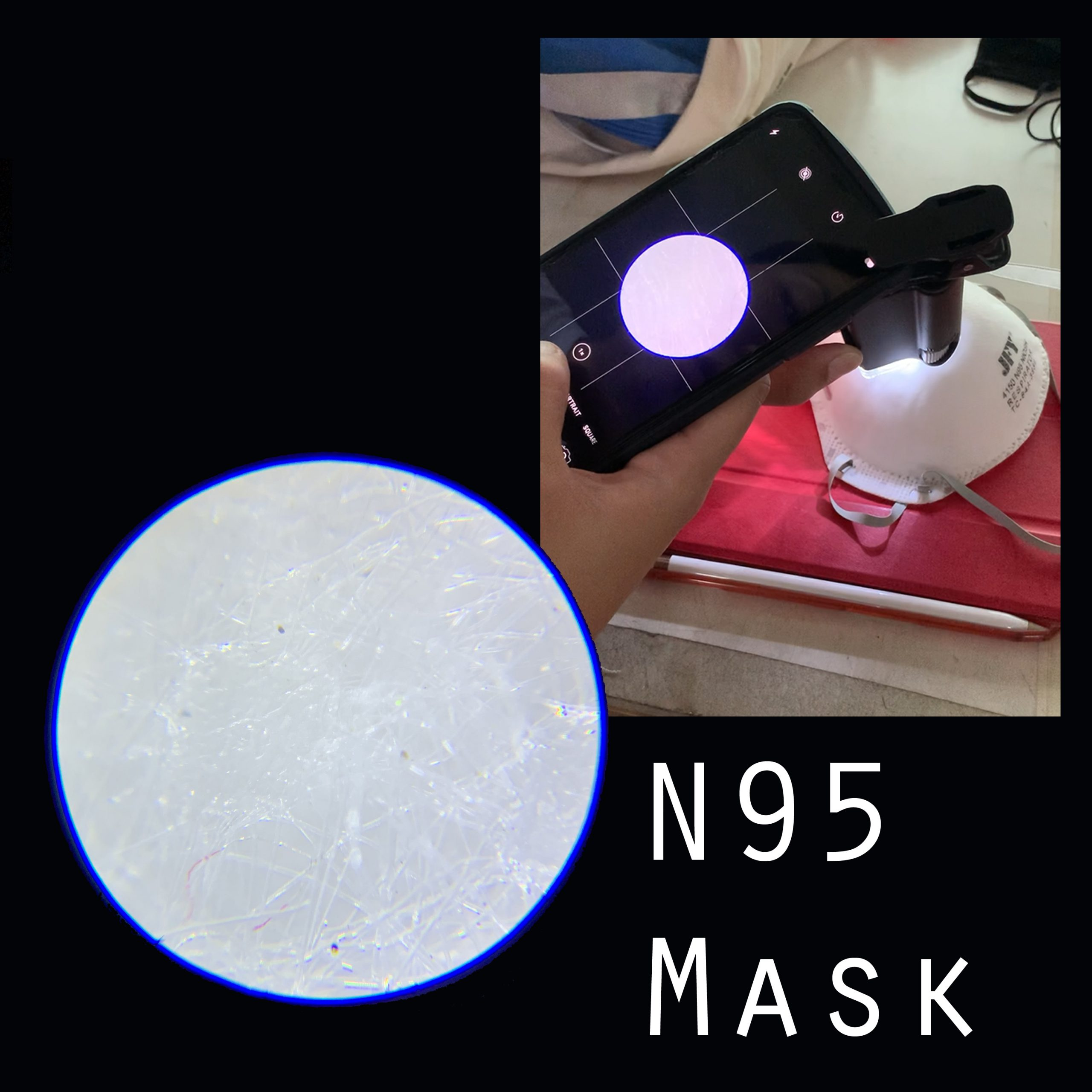 x50 magnify fabric surface N95 masks