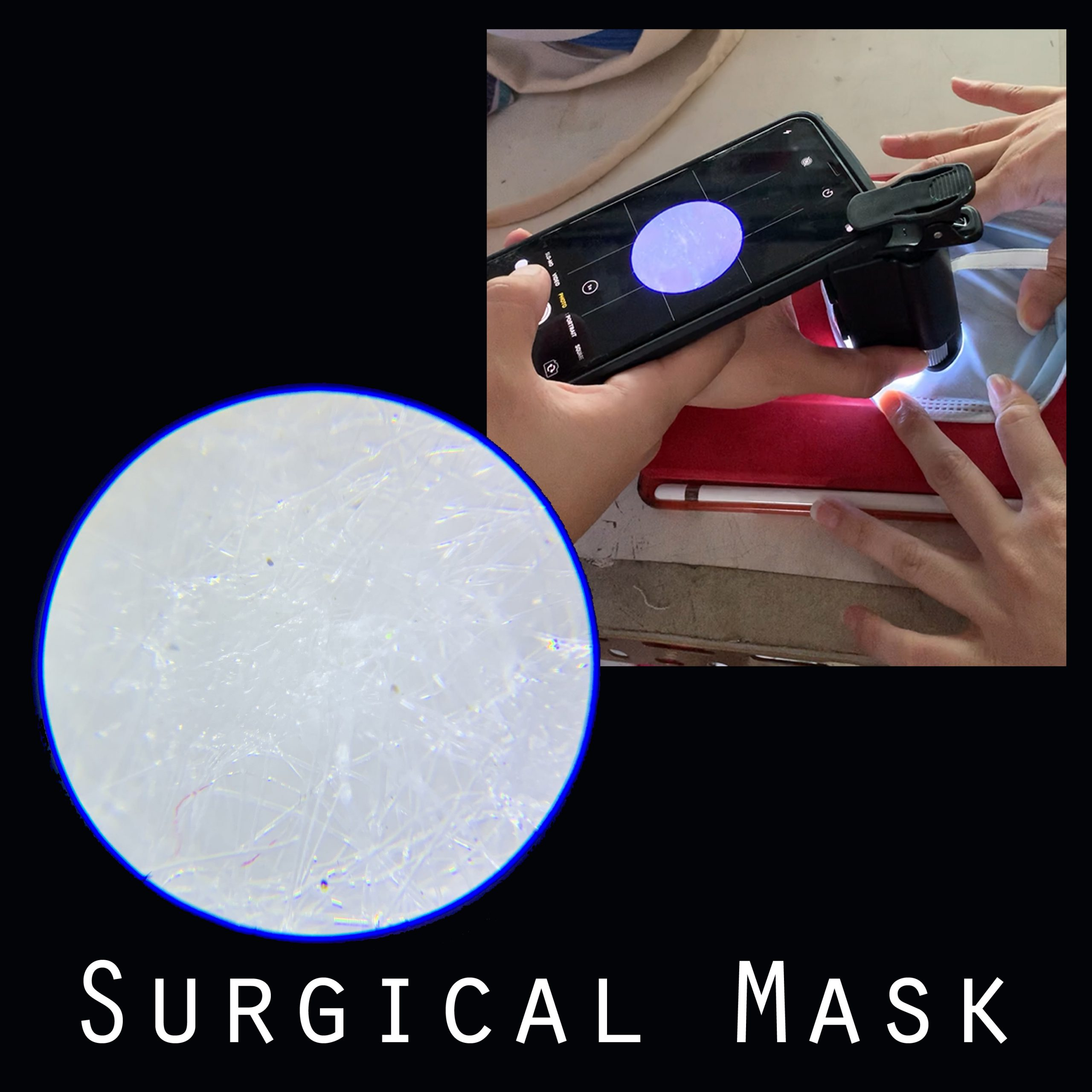 x50 magnify fabric surface surgical masks